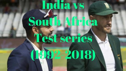India Vs South Africa Test Series So Far on South Africa Venue